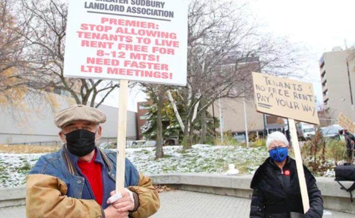 Community pitches in to help landlords deal with 'mess'